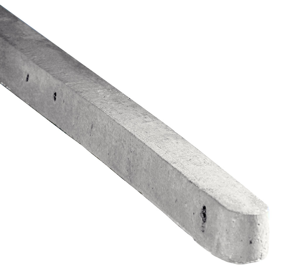 "7'3"" Concrete Intermediate Post Holed For Chainlink Or"