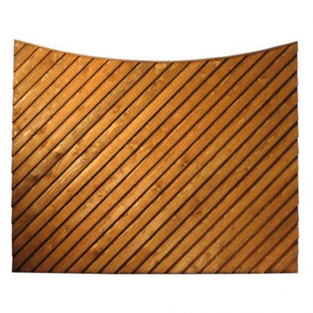 Scalloped Top Diagonal Closeboard
